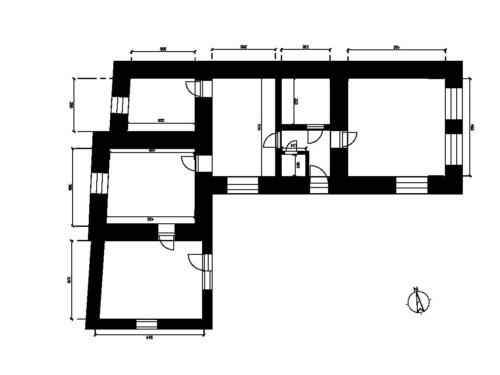 Rodinný dům Trusnov - Půdorys rozměry